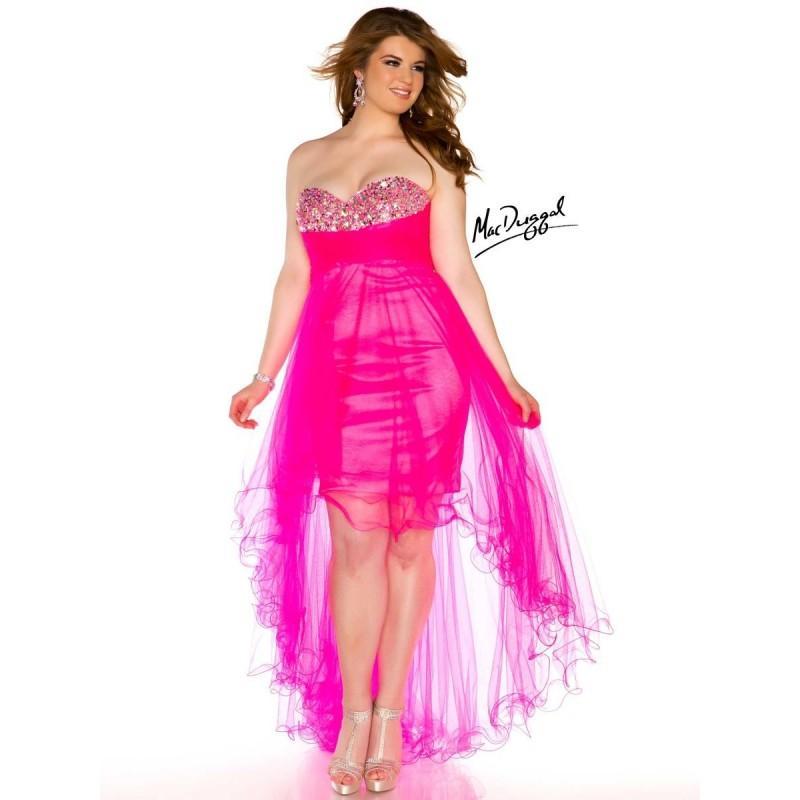 Top Mac Duggal Plus Size Hi Low Prom Dress 76467n - Cheap Discount ...