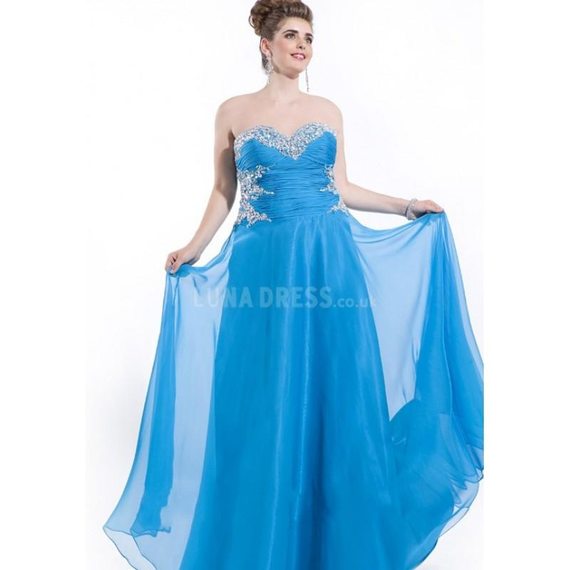 Wedding - Flowing Floor Length Sweetheart Natural Waist Chiffon Lace up Back A line Prom Dress - Compelling Wedding Dresses