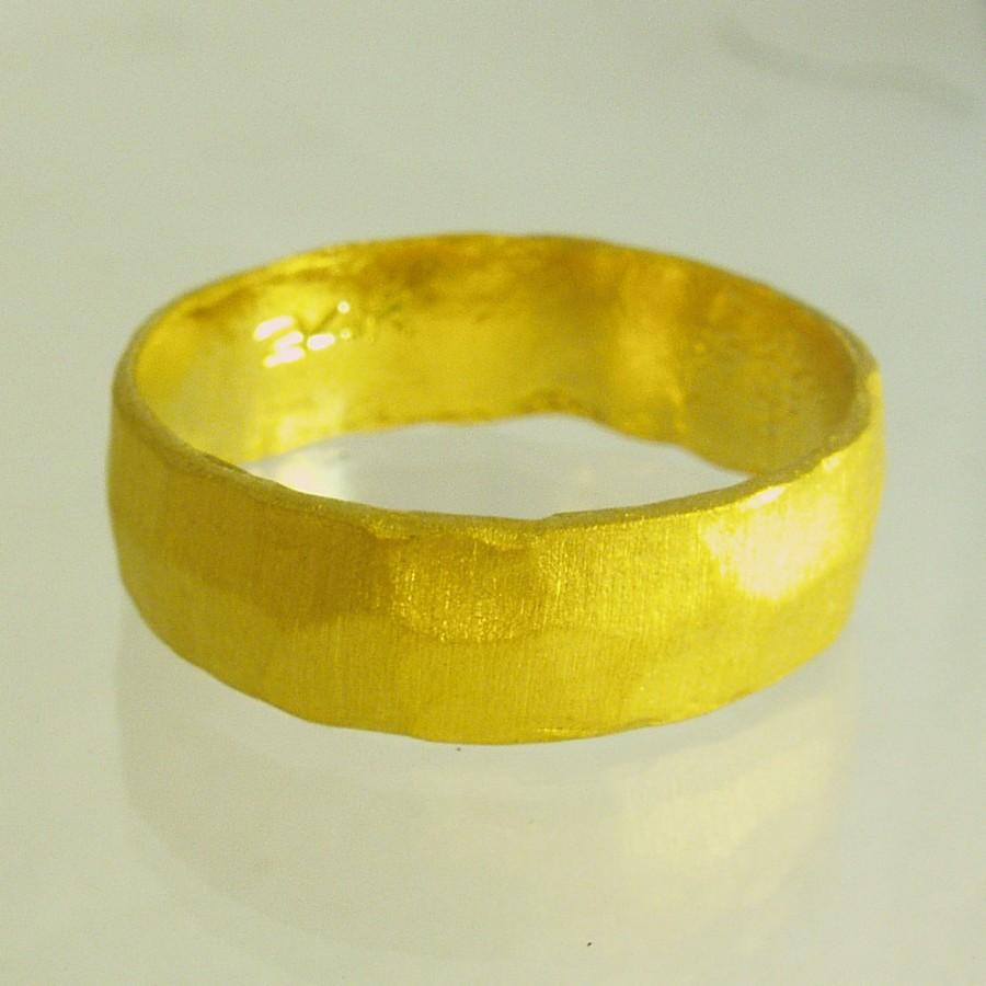 Mariage - 24 Karat ring, unisex ring, Man Wedding Band,  Woman Wedding Band, Pure gold ring, Recycled gold, Made To Order  ring