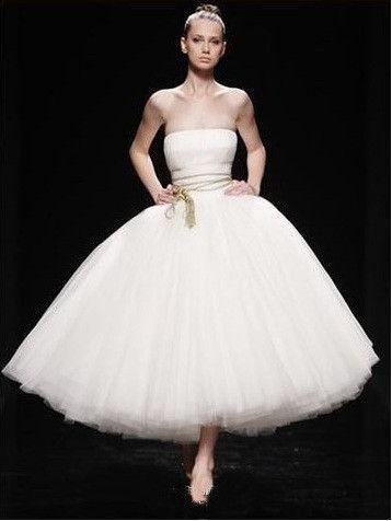 زفاف - Strapless Ballerina Tulle Wedding Dress