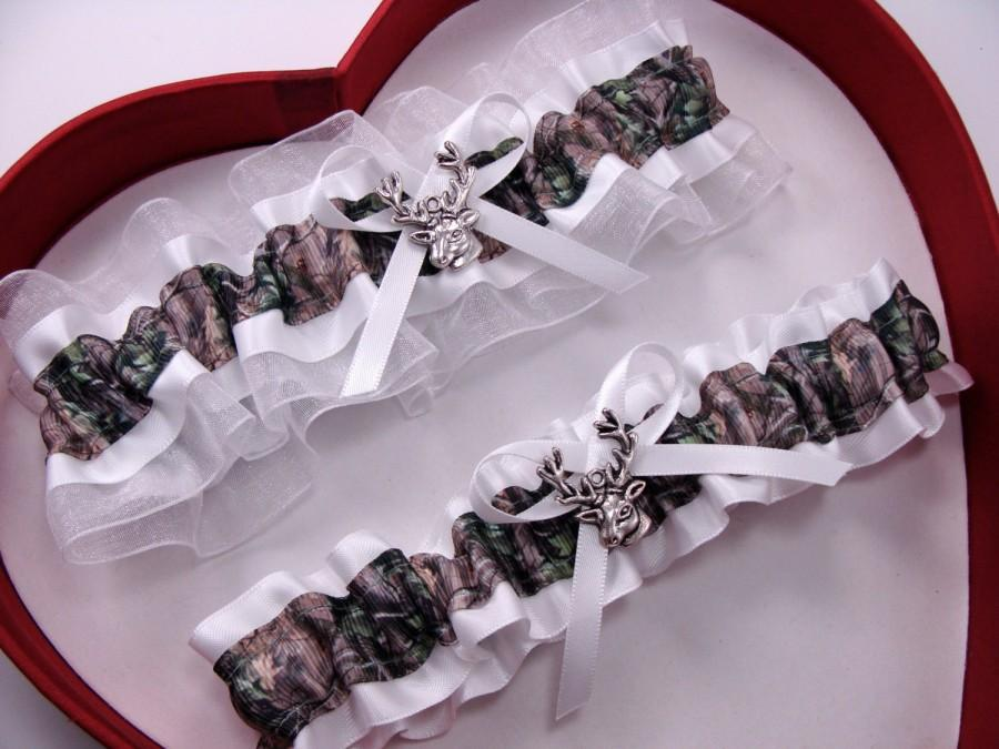 Свадьба - New White Mossy Oak Camouflage Camo Wedding Garter Hunting Deer Hunter Chick Prom GetTheGoodStuff