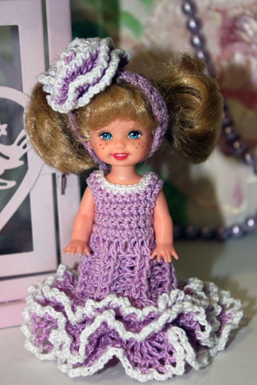 Clothes Crochet Dress For Kelly 45 Inches Doll Handmade Miniature