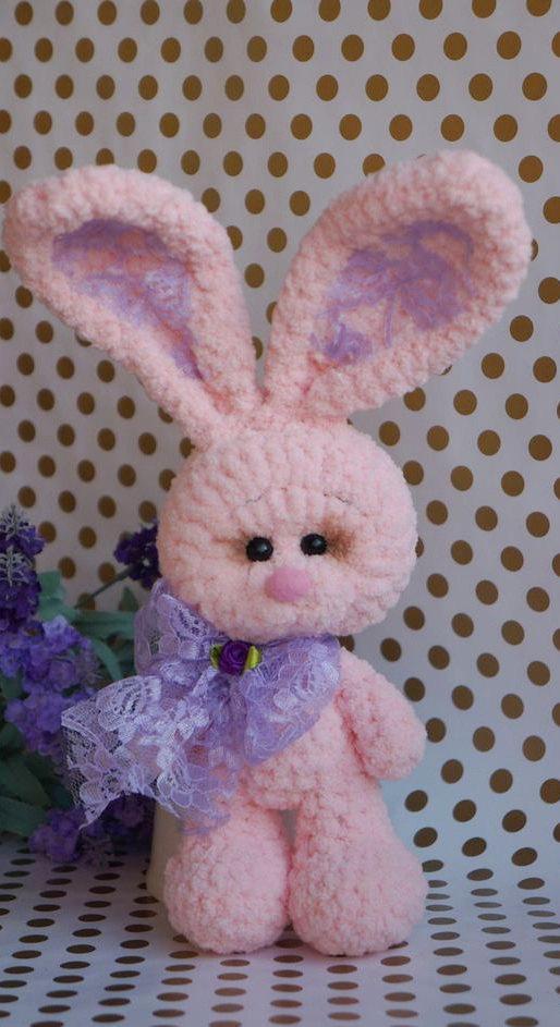 Mariage - Plush bunny toy crochet bunny doll rabbit toy stuffed bunny girlfriend gift softie rabbit crochet amigurumi stuffed toys Valentine's toy
