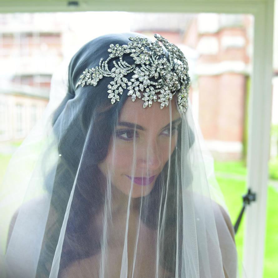 Свадьба - Amazing Crystal 1920's Deco Style Bridal Rhinestone Wedding Bridal Headpiece - Art Deco - Art Nouveau The Great Gatsby - Vintage Wedding