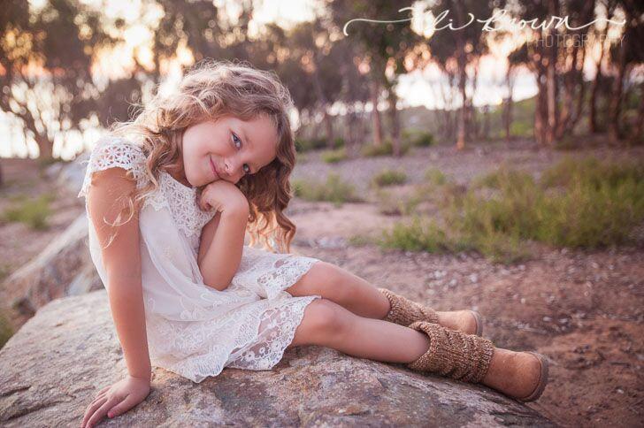 زفاف - Girls dress, lace flower girl dress, girls dress, girls lace dress, easter dress, brown lace dress, rustic flower girl dress, Boho Dress