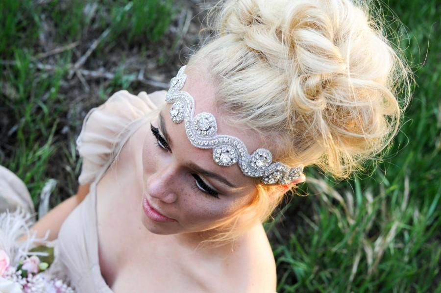 Свадьба - Crystal Headband, Bridal Headband, Wedding Hair Piece, Bridal Headpice, Headpiece, Wedding Headband, Beaded headband, Crystal Headpiece