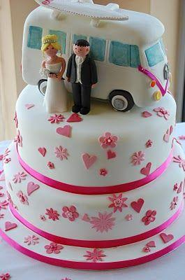 Hochzeit - Dotty About Cake: Campervan Wedding Cake