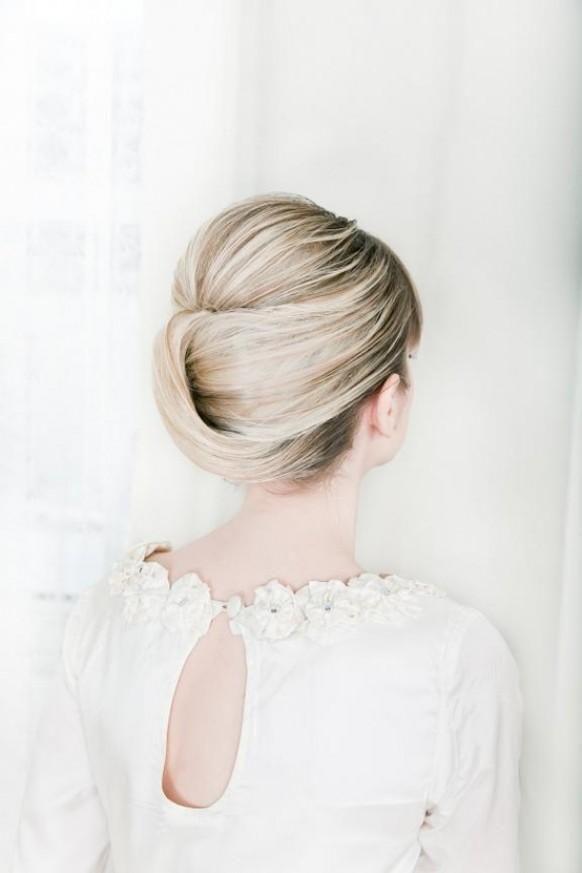 Hochzeit - Modern Wedding HairStyles ♥ Wedding Updo Hairstyle  #891124