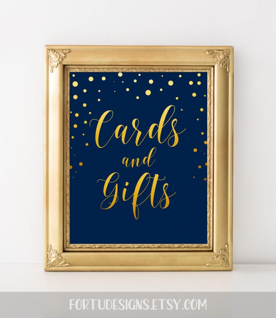 Elegant Wedding Sign Card Reception Decor Cards And Gifts Sign ...