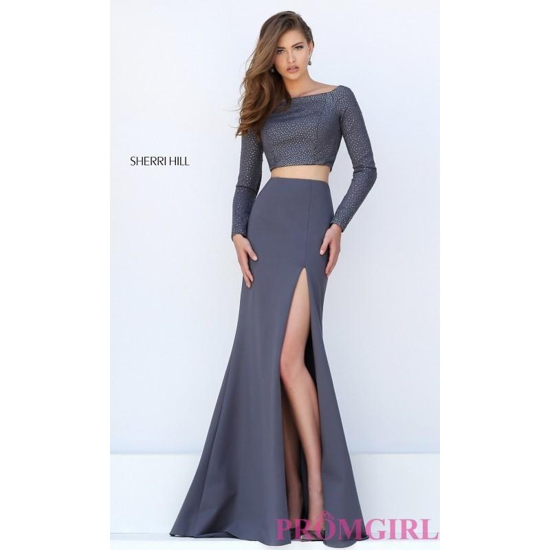 Wedding - Sherri Hill Two Piece Long Sleeve Dress - Discount Evening Dresses