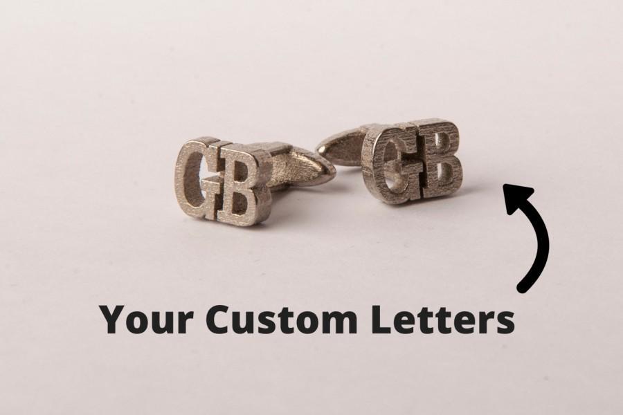 Mariage - Personalized Cufflinks // Custom Cufflinks // Wedding Cufflinks // 3D Printed Metal Cufflinks // Custom Gift // Gift for Him