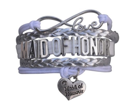 زفاف - Maid of Honor Bracelet- Bridesmaid Gift Bracelet, Bridal Party Bracelets, Makes the Perfect Gift For Maid of Honor