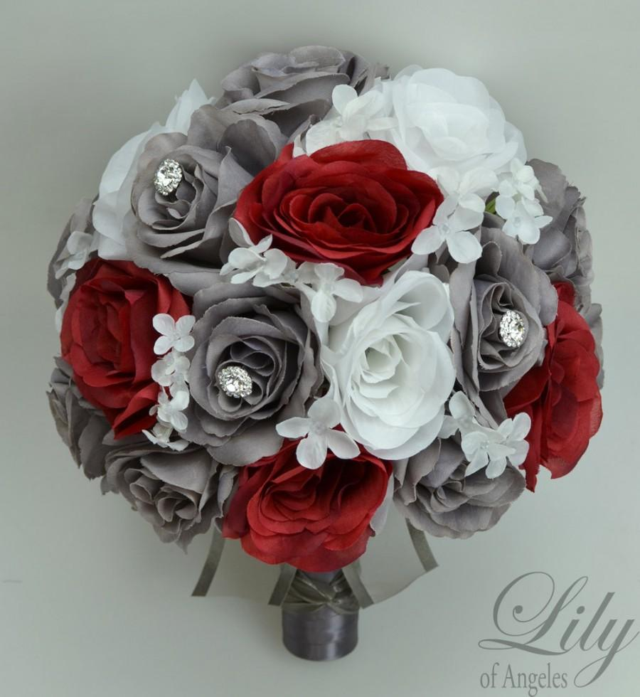 Piece package wedding bridal bouquet silk flowers