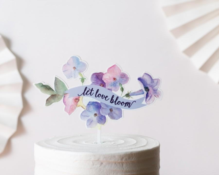 Mariage - Watercolor topper floral