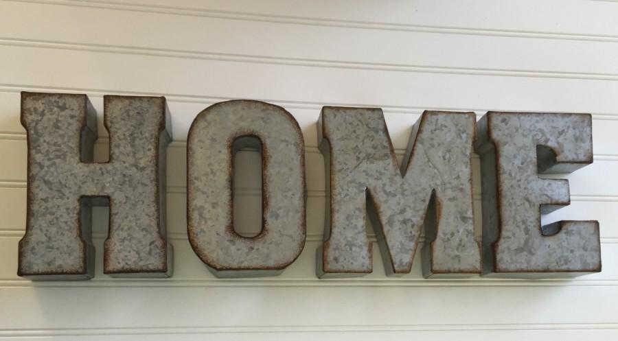Decorative Metal Letter You Pick Home Wall Sign