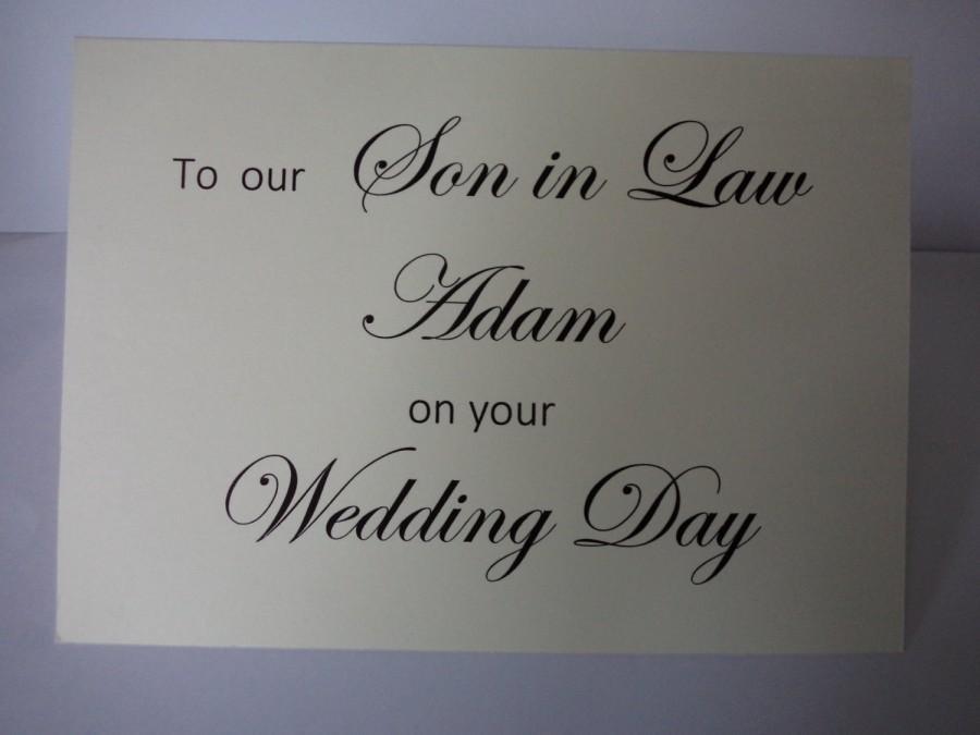 Wedding - Son in law wedding card, Personalised card to son in law, wedding card for groom, son-in-law, wedding card,  personalised, wedding cards,