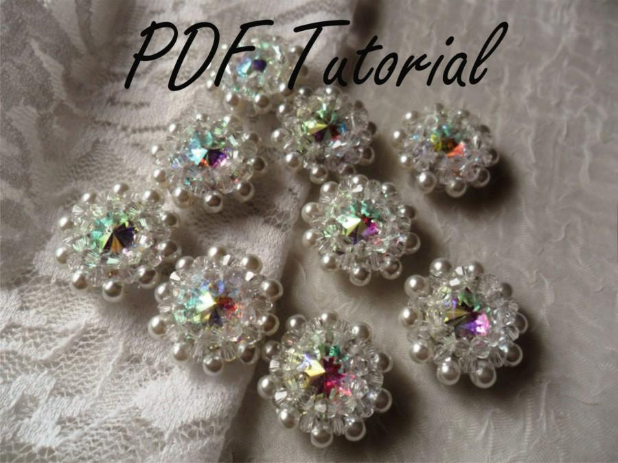 Melissa crystal brooch component wedding decoration fabric flower melissa crystal brooch component wedding decoration fabric flower bouquet component pdf tutorial cake topper hair pin applique junglespirit Gallery