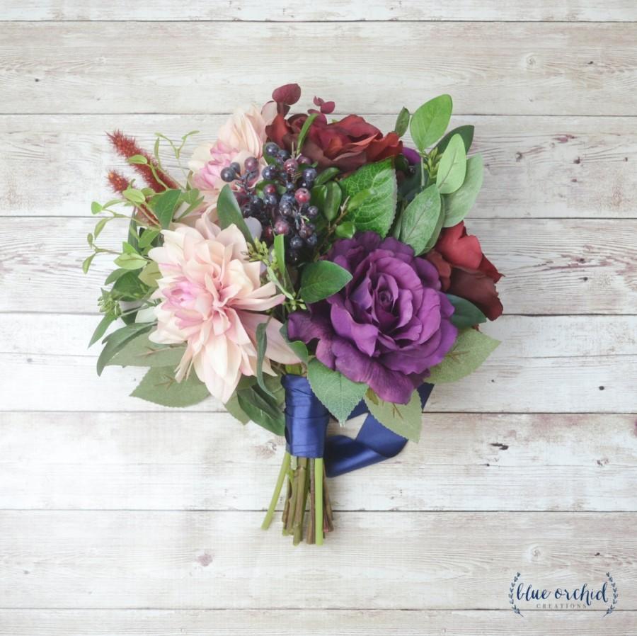 Hochzeit - Wedding Bouquet, Artificial Bouquet, Silk Flower Bouquet, Wedding Flowers, Bridal Bouquet, Boho Bouquet, Silk Flowers, Wedding Flower Set