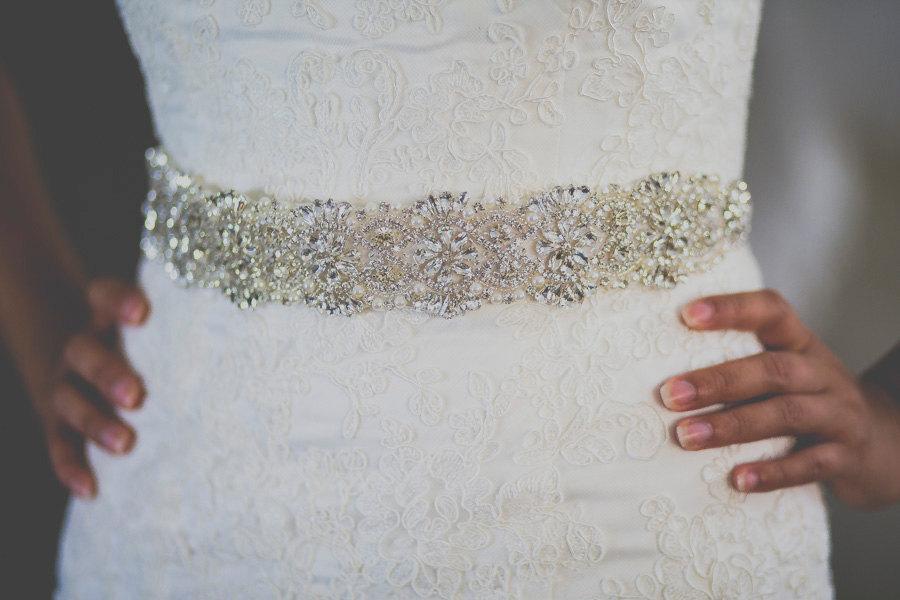 زفاف - bridal sash, bridal belt, white sash, ivory sash, sash for wedding dress