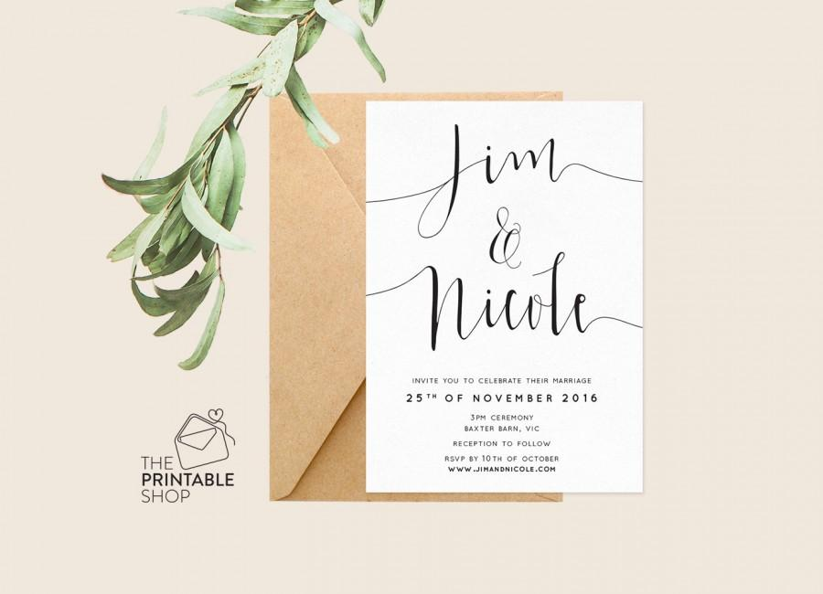 Printable Engagement Invitation Printable Wedding Invitation