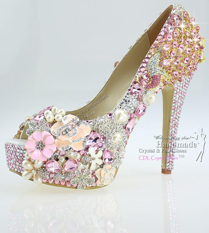 Hochzeit - Crystal Wedding Party Shoes