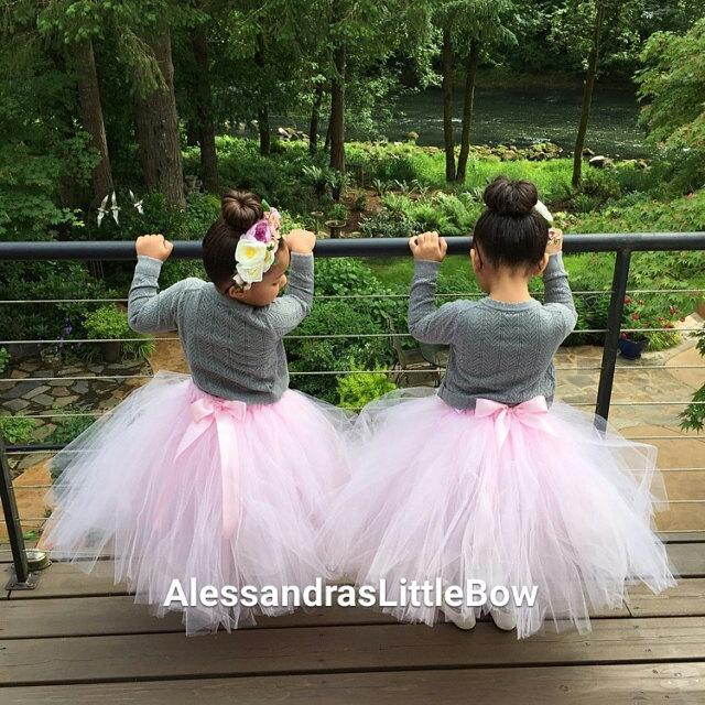 Flower Girl Tutu Skirt Floor Lenght Tulle Long Girls Tutus Custom Dress Toddler Tea Party