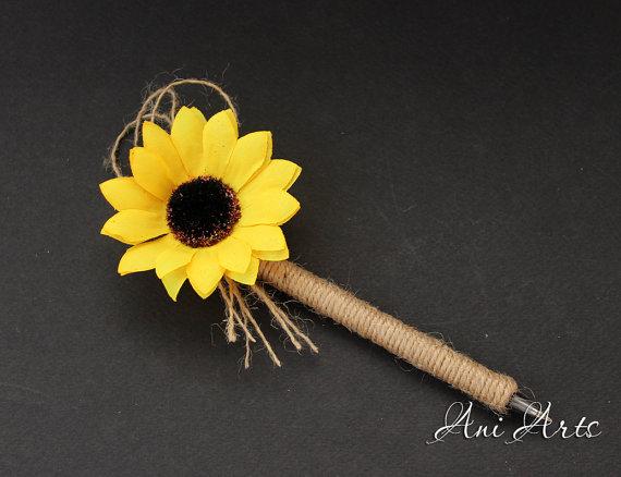sunflower wedding guestbook pen bridal shower guestbook pen sunflower pen