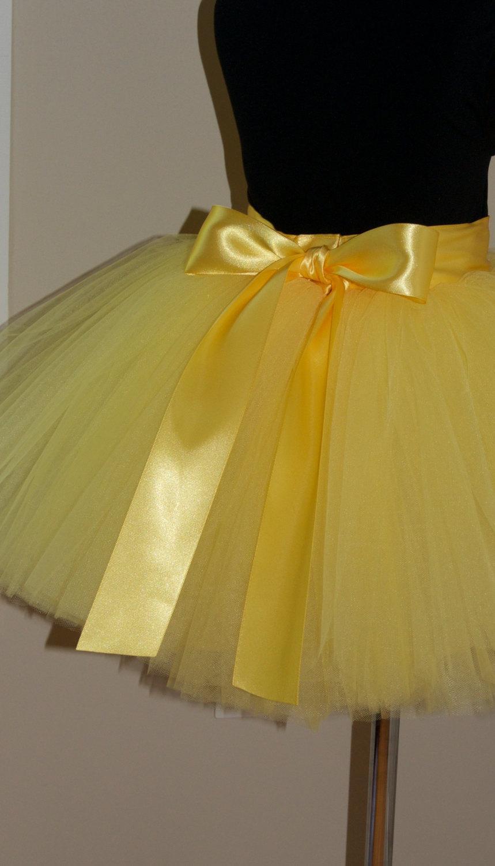 Wedding - Yellow tutu skirt,girls tutu,Soft Tulle skirt,CUSTOM sewn tutus,MyFabBoutique,