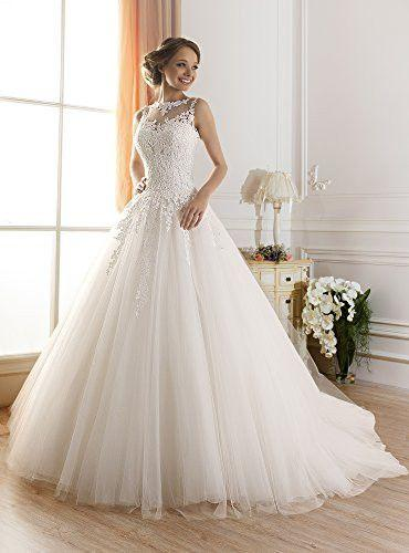 Hochzeit - Lace Ball Gown Casamento Elegant Long Wedding Dresses