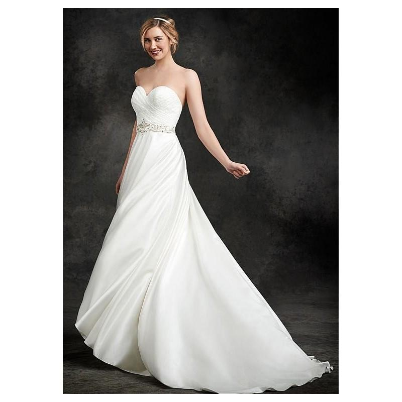 Wedding - Glamorous Lace & Satin Sweetheart Neckline Natural Waistline A-line Wedding Dress - overpinks.com