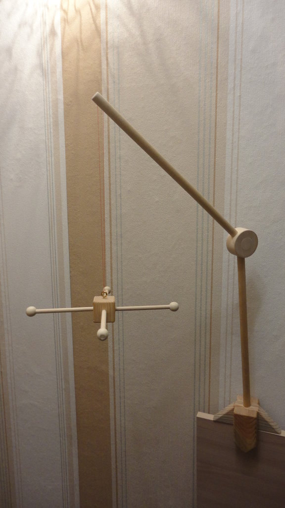Wooden Stand Arm DIY Wooden Mobile Stand Baby Сrib Mobile
