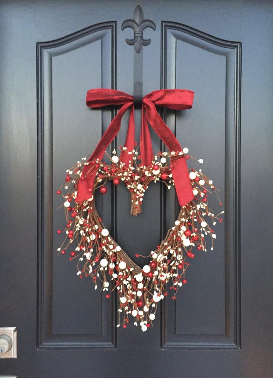 VALENTINE WREATH Valentines Day Decor Valentines Gift Valentines Day Gift Heart Decor Valentines Day Wreaths Door Heart Wreath & VALENTINE WREATH Valentines Day Decor Valentines Gift Valentines ...