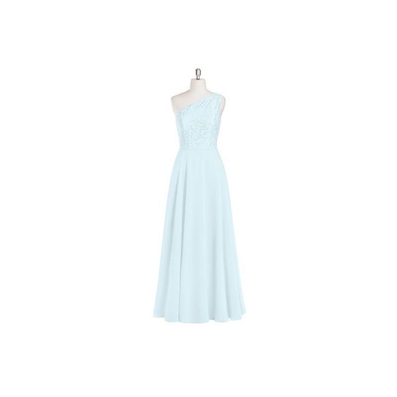 939115f22c Mist Azazie Simone - Back Zip Chiffon And Lace One Shoulder Floor Length  Dress - The Various Bridesmaids Store