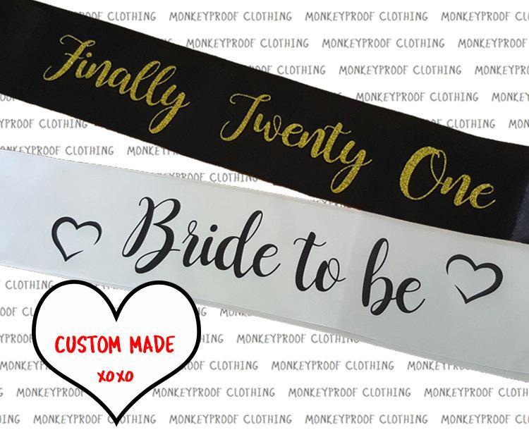 Mariage - High Quality Custom Sash - Bachelorette - Hen's Night - Birthday - Twenty First - Bridesmaid - Bride To Be - Bride Tribe - Plus Size