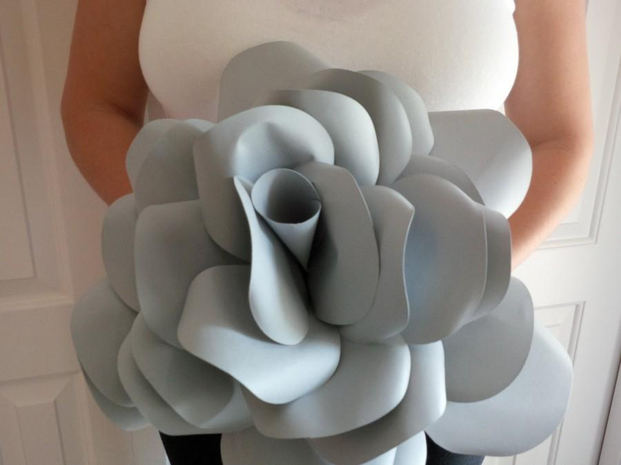 Wedding - Giant paper Rose, statement rose, wedding flower, bridal bouquet, home decor, photo prop, hand made, unique, eco-friendly, paper flower