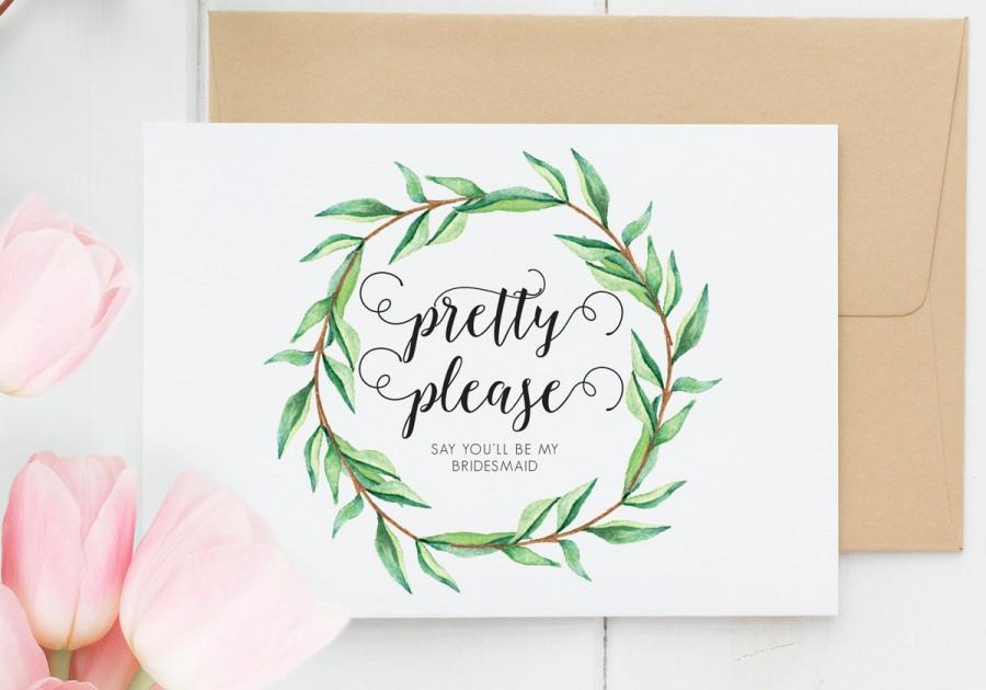will you be my bridesmaid cards funny pretty please bridesmaid