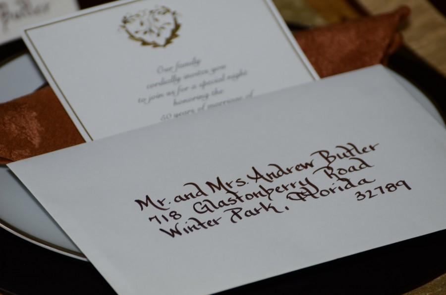 Wedding - Wedding Calligraphy Envelope Addressing