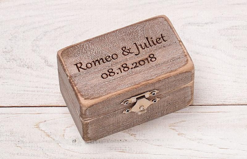 Mariage - Wedding Ring Box, Personalized Ring Bearer, Rustic Ring Box, Wedding Ring Holder, Ring Bearer Pillows, Wood Box, Ring Bearer Box,