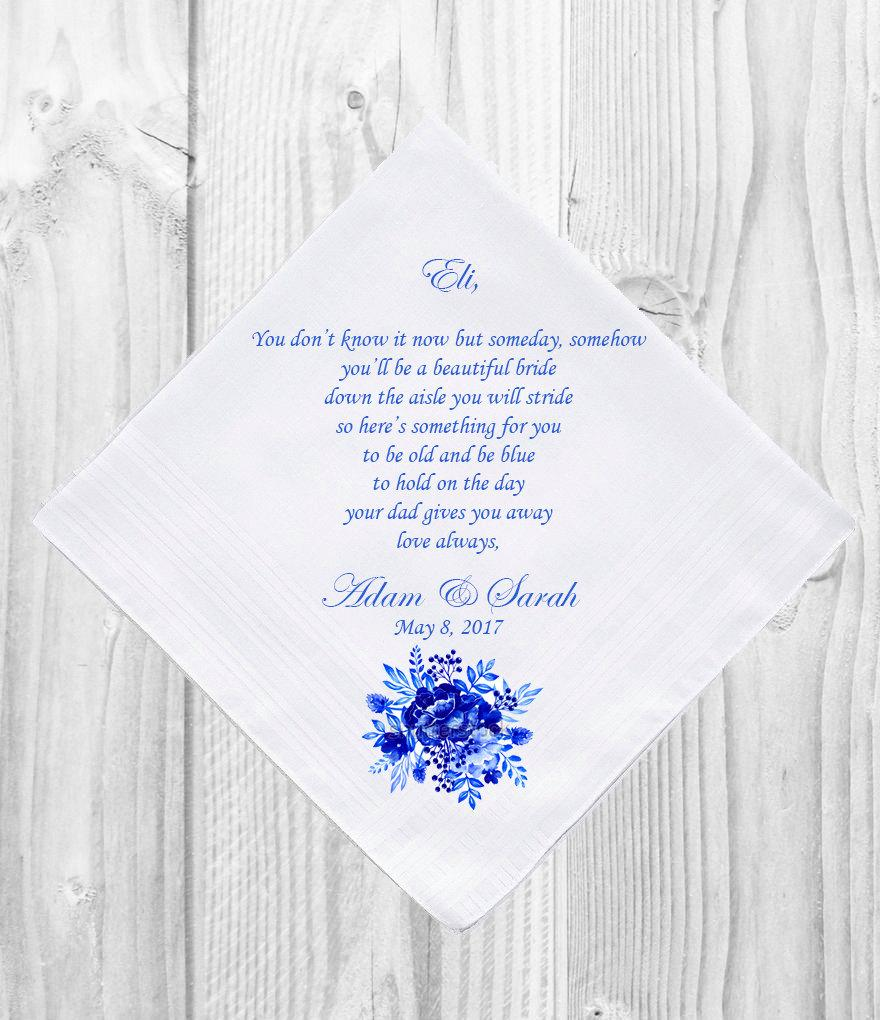 Mariage - Personalised Flower girl Handkerchief Customised Personalized Customized Printed Wedding Gift Favor