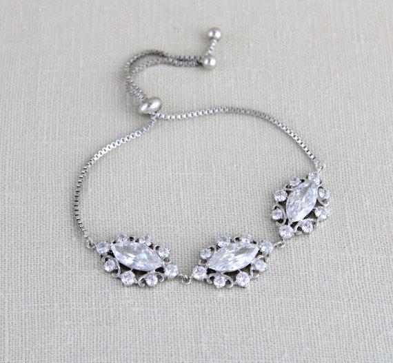 Свадьба - Crystal Bridal bracelet