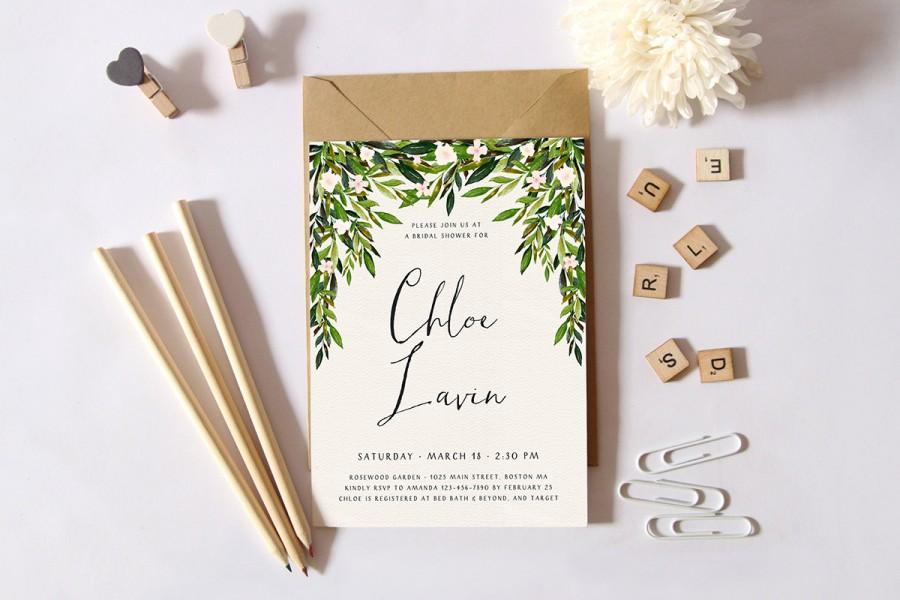 printable bridal shower invitation simple shower invitation garden