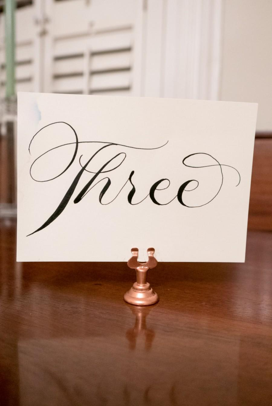 Mariage - Set of 15 rose gold table number holders