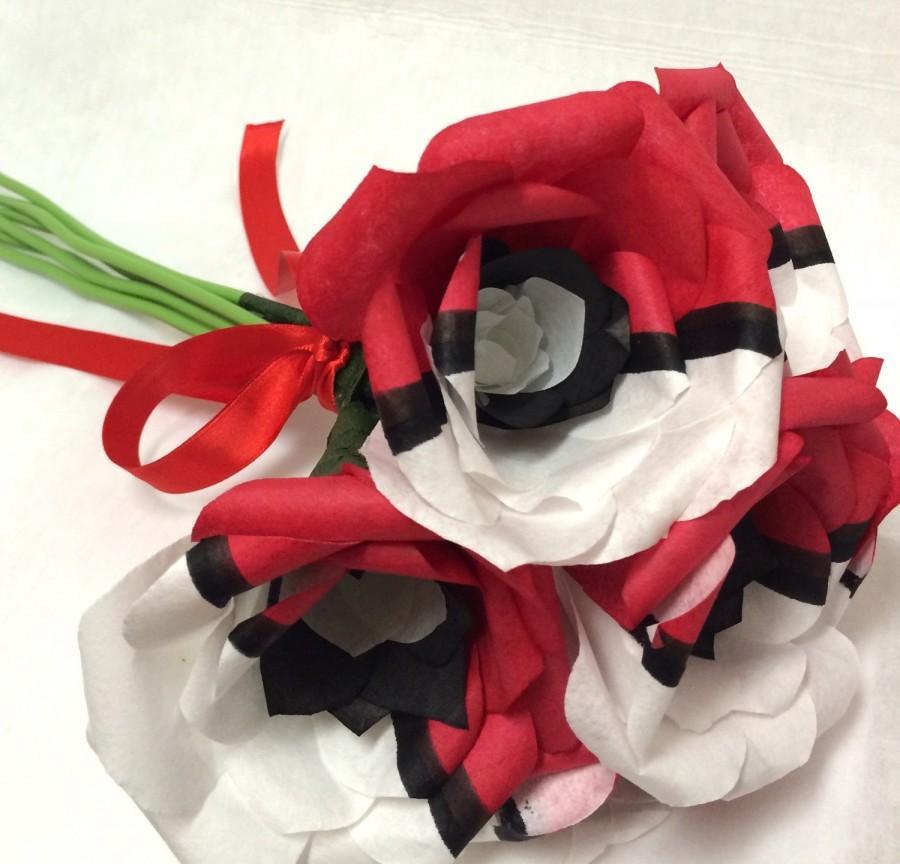 Hochzeit - pokeball roses, pokemon flower, pokerose, pokemon valentine's, pokemon gifts, nerdy gift ideas, geeky gift, nerdy valentine gift, anime gift