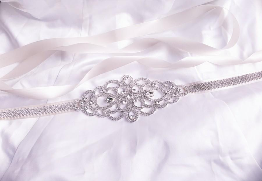 Mariage - Wedding Belt, Bridal Sash, Crystal Bridal Belt
