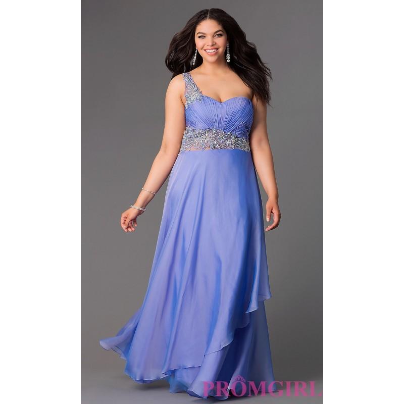 Wedding - Long Beaded One Shoulder Elizabeth K Prom Dress - Discount Evening Dresses