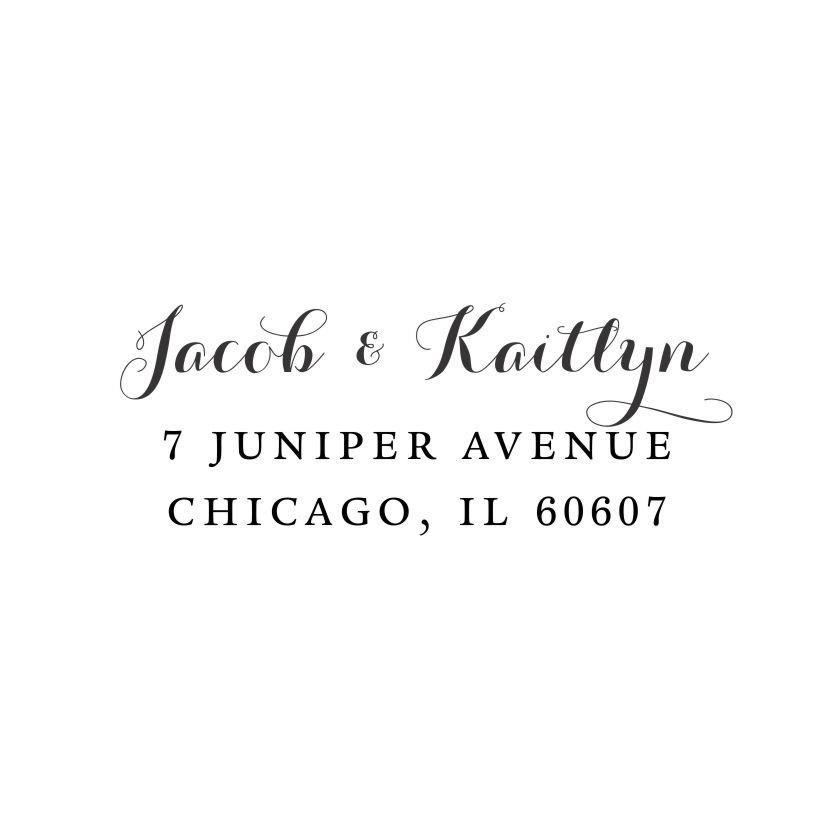 زفاف - Calligraphic Script Return Address Stamp - Self Inking - Wedding - Housewarming Gift