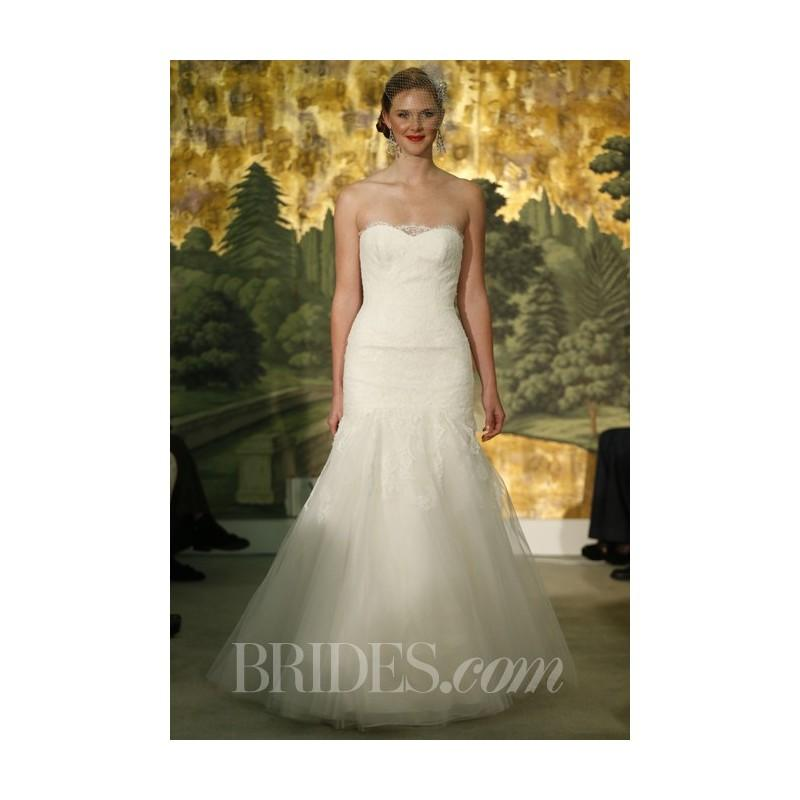 Wedding - Anne Barge - Spring 2014 - Hyacinthe Lace and Tulle Strapless Mermaid Wedding Dress - Stunning Cheap Wedding Dresses