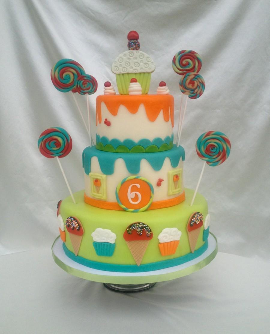 Candy Land Ice Cream Lollipop Fake Faux Cake Photo Shooting Cake