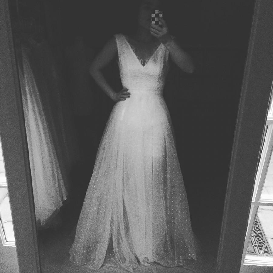 Wedding - Margaretta-Perfect Peach White Wedding SKIRT-ready to ship