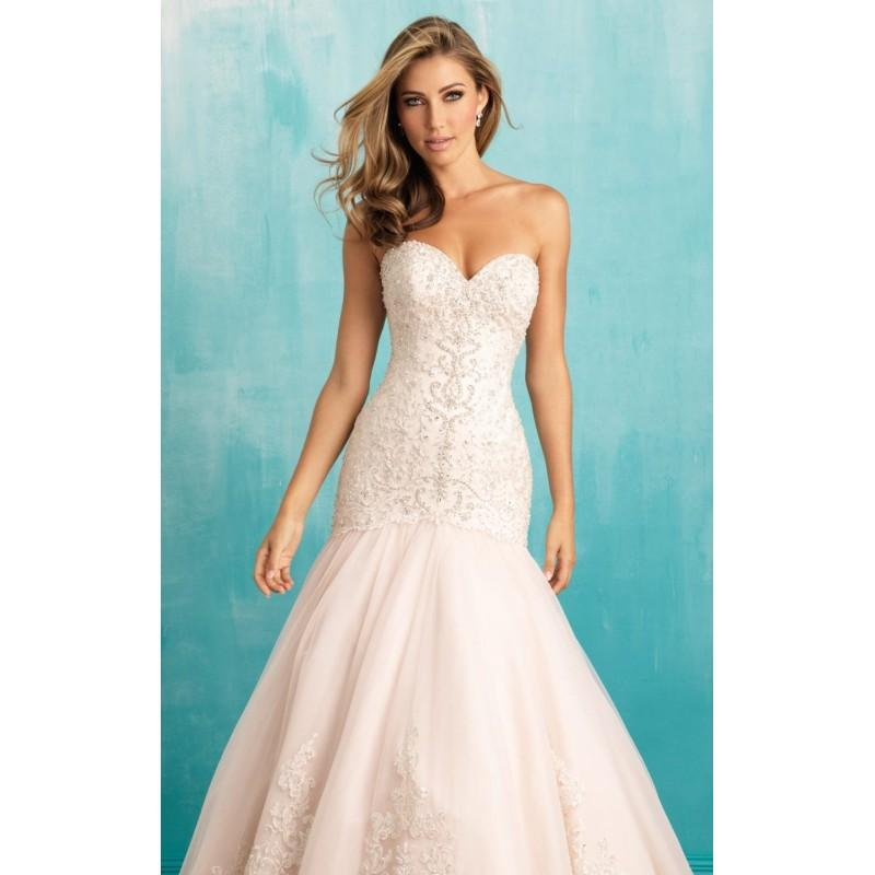Свадьба - Strapless Beaded Lace Gown by Allure Bridals - Color Your Classy Wardrobe